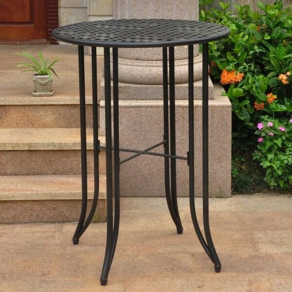 International Caravan Mandalay Outdoor Iron Bar-height Table