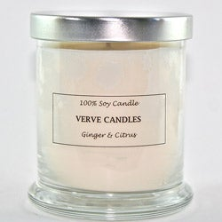 Verve Candles 12-ounce Hand-Poured All-Natural Scented Soy Candle