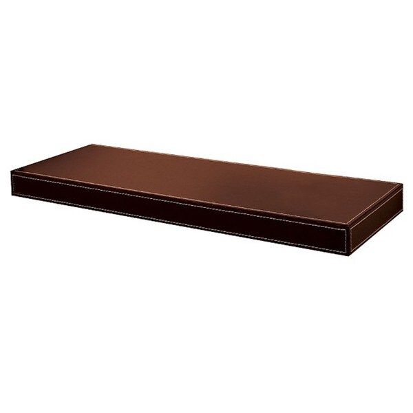 "Azure Leather Floating Shelf (10"" x 36"")"