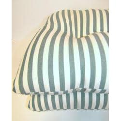Green Stripe Chair Pads (Set of 2)