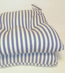 Blue Stripe Chair Pads (Set of 2)