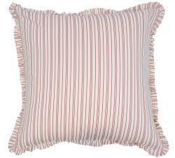 Candy Red Stripe Euro Sham
