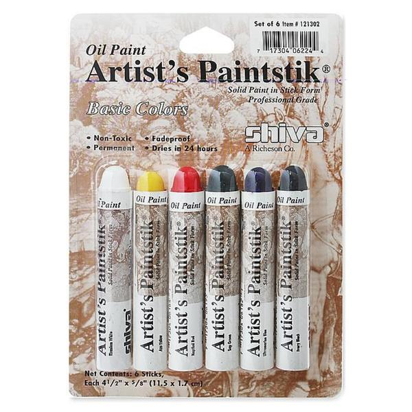 Shiva Basic Artist's Paintstik Oil Colors Set