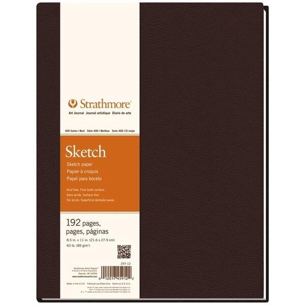 Strathmore 400 Series 8.5 x 11.5 Dark Brown Hardbound Sketchbook