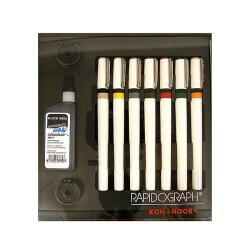 Koh-i-noor Slim Pack Rapidograph Technical Pens (Set of 7)