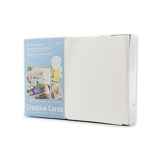 Strathmore Fluorescent White Greeting Cards (Pack of 50)