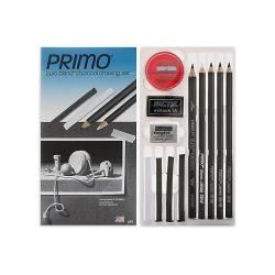 General's Primo Euro-blend Black Charcoal Pencil Drawing Set