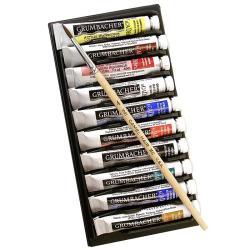 Grumbacher Basic Academy Watercolor Tubes (Set of 10)