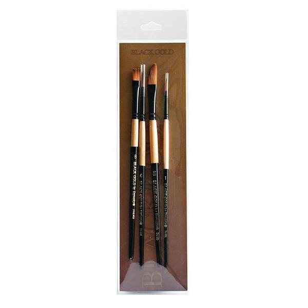 Dynasty Landscape/ Portrait Black Gold Brush Set