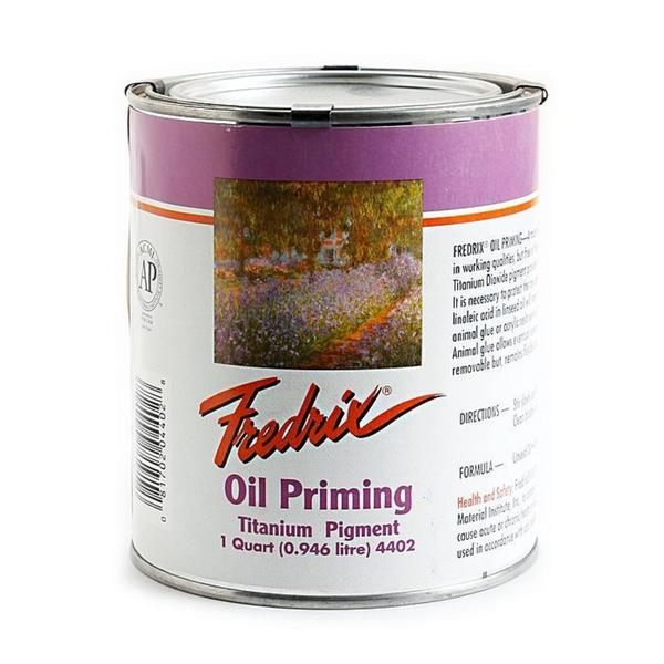 Fredrix Quart Oil Priming Titanium Dioxide Can