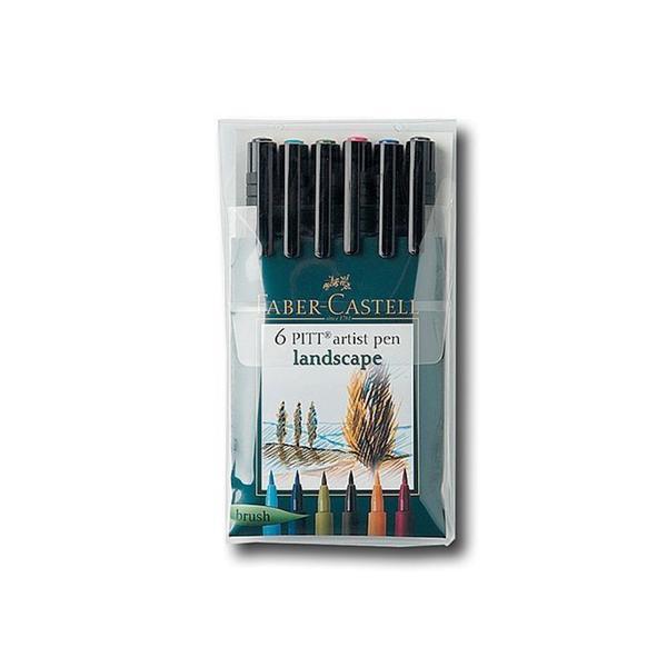 Faber-Castell Landscape Pitt Artist Brush Pen Set