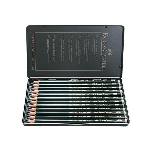 Faber-Castell Graphite 9000 Sketch Pencils (Set of 12)