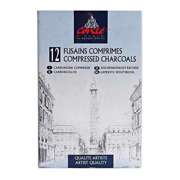 Conte Assorted Compressed Charcoal (Box of 12)