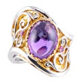 Michael Valitutti Two-tone Amethyst and Pink Tourmaline Ring
