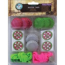Vintage Collection 'Pink Polka Dot' Value Party Pack Bottle Caps