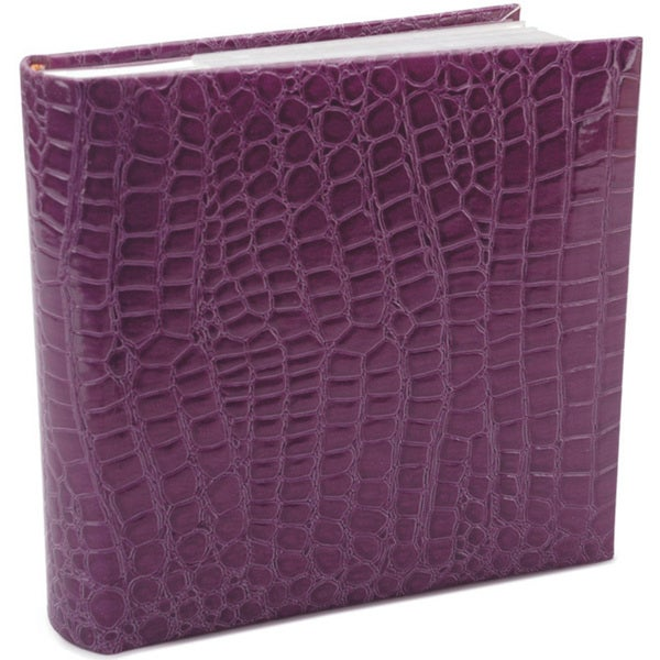 Amanda Blu Purple Faux Croc 8.5-inch Photo Album