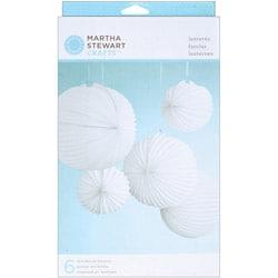 White Accordian Doily Lace Lanterns Kit - Makes 6