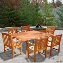 "Casimir 60"" Square Dining Set with 6 Arm Chairs"