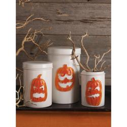 Martha Sewart 'Pumpkin Gel' Clings (Pack of 4)