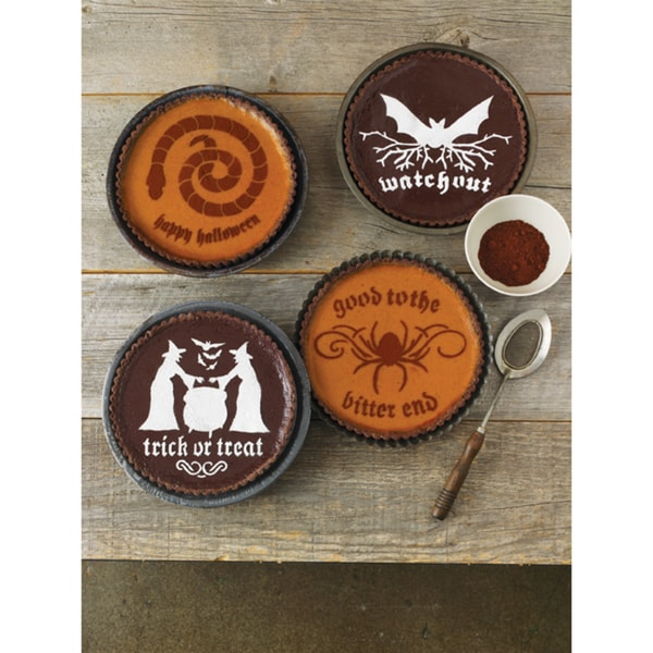 Halloween Phrase Cake Stencils (Pack of 4)