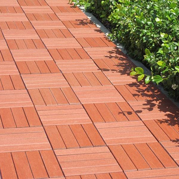 Casimir Wood 4 Horizontal Design Composite Deck Tile (Pack of 10)