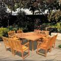 "Casimir 60"" Square Outdoor Dining Set with 8 Armchairs"