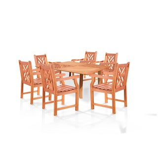 "Casimir 60"" Square Outdoor Dining Set with 6 Arm Chairs"