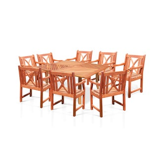 "Casimir 60"" Square Dining Table Set with 8 Arm Chairs"