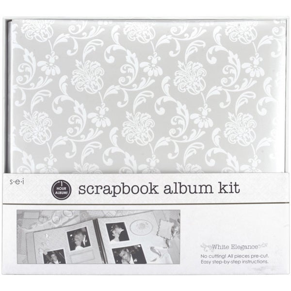 S.E.I One Hour 'White Elegance' Scrapbook Album Kit