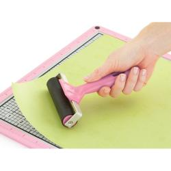 Slice Elite Brayer Pink/Black Plastic Smoothing Roller Scrapbook Tool