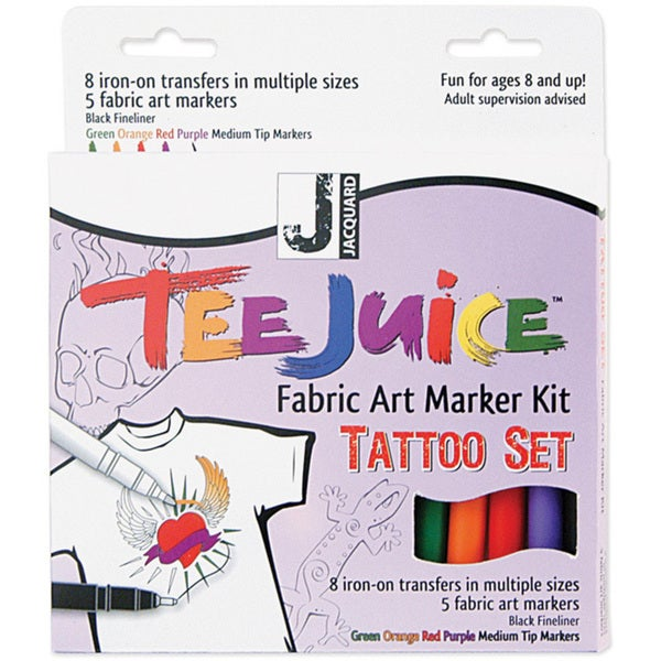 Jacquard Tee Juice Fabric Art Marker Kit