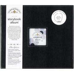 Doodlebug Beetle Black Fabric 12-inch Storybook Album