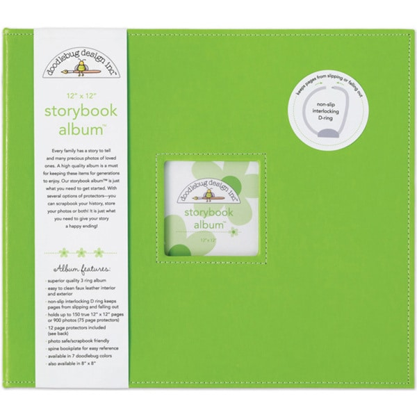 Doodlebug Limeade Fabric Storybook Album (12' x 12')