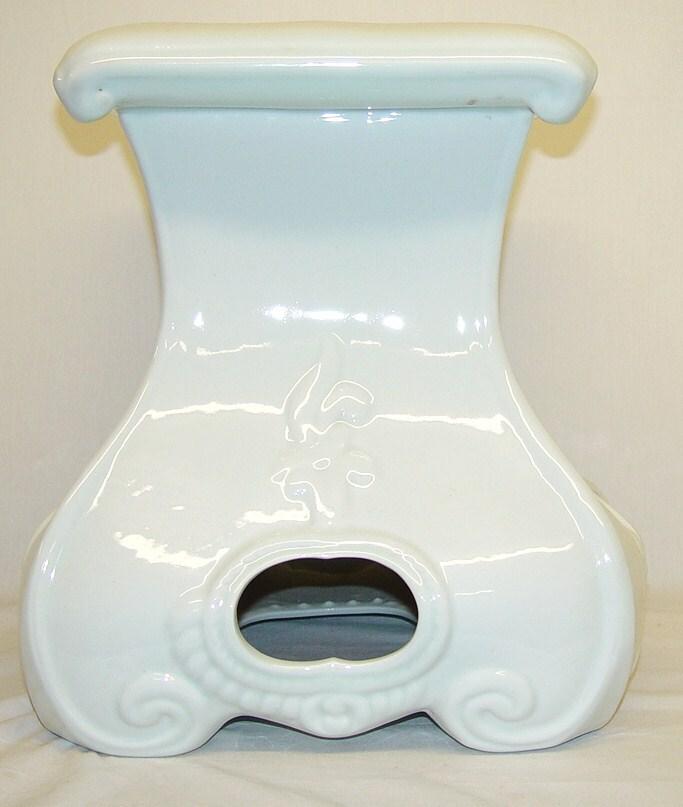 Mushroom White Porcelain Garden Seat