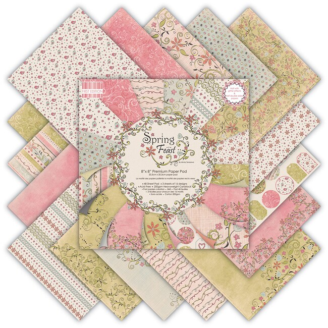 'Spring Feast' Premium Paper Pad (8 x 8)
