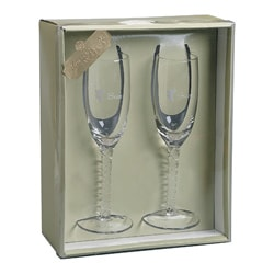 Darice Bride & Groom Champagne Glasses