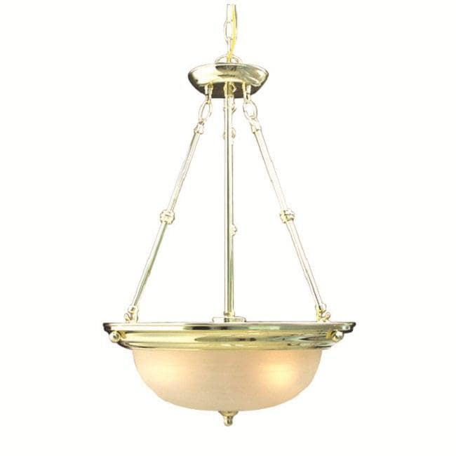 Woodbridge Lighting Basic 3-light Polished Brass Pendant