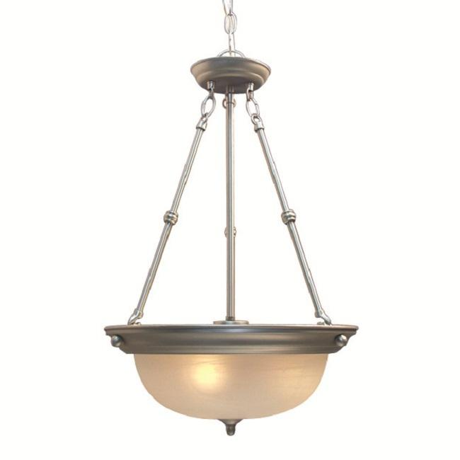 Woodbridge Lighting Basic 3-light Satin Nickel Pendant