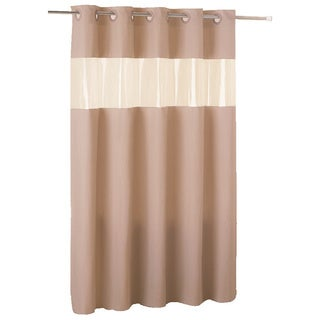 Hookless Brown PEVA Shower Curtain