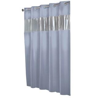 Hookless Blue PEVA Shower Curtain