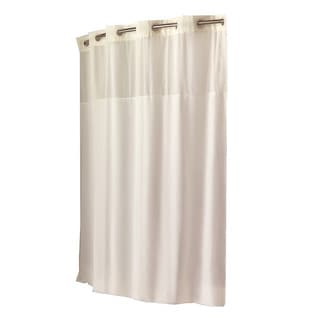 Hookless Beige Fabric Shower Curtain