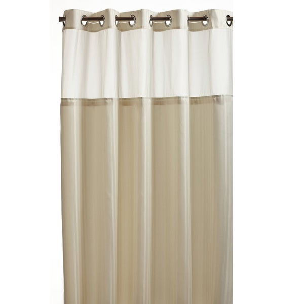Hookless Beige Premium Shower Curtain