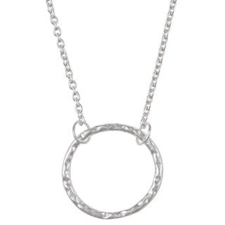 La Preciosa Sterling Silver Open Circle Necklace