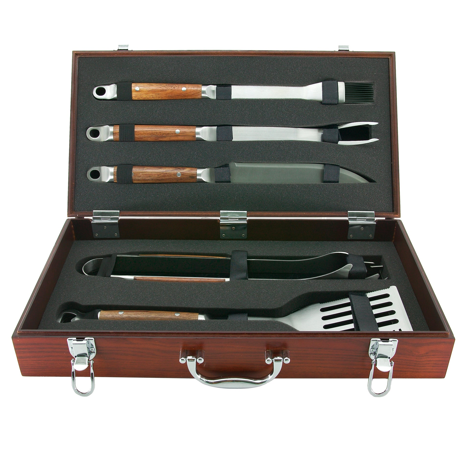 Mr. BBQ Forged 5-piece Stainlees Steel Grilling Set