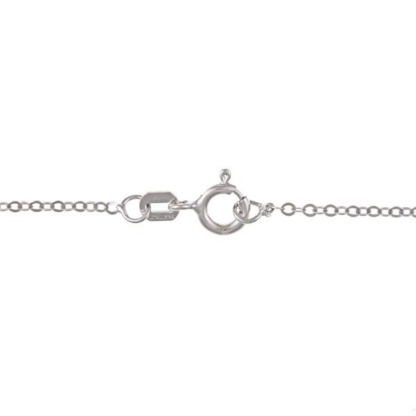 La Preciosa Sterling Silver Cubic Zirconia Teardrop Flower Necklace