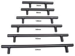 GlideRite 11-inch Solid Stainless Steel Finish Cabinet Bar Pulls (Case of 25)
