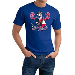 Texas Baseball 'Texas Pride' Blue Cotten Tee