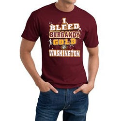 Washington 'I Bleed Burgandy & Gold' Short-Sleeve Cotton Tee