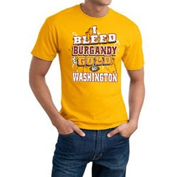 Washington 'I Bleed Burgandy & Gold' Cotton Tee