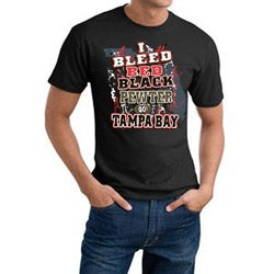 Tampa Bay 'I Bleed Red, Black & Pewter' Cotton Tee